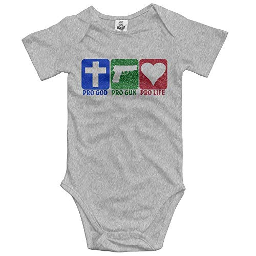Newborn Infant Pro God Pro Gun Pro Life Short Sleeve Romper Onesie Bodysuit Jumpsuit