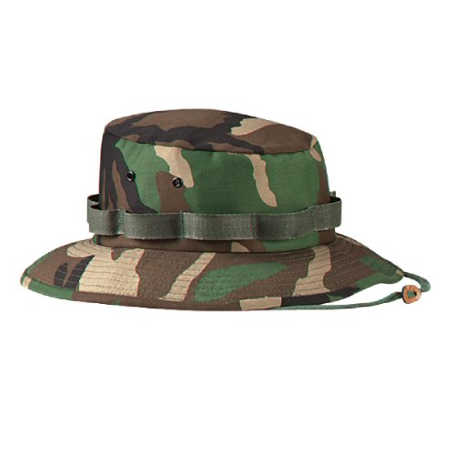 Hat Jungle Rothco (Woodland Camouflage Military Jungle Hat (Polyester/Cotton) 5547 Size 2XL Regular)