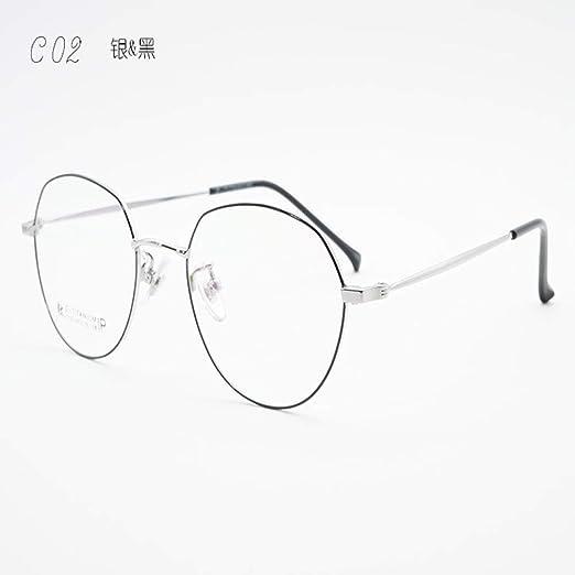 Yangjing-hl Gafas Semi Titanio Titanio Marco pequeño Gafas ...