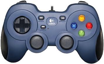 Logitech F310 Gamepad con Cable, Distribución Tipo Consola, Mando de Dirección 4 Conmutadores, Comodidad de Sujeción, Cable 1,8m, PC/Steam/AndroidTV , Azul/Gris