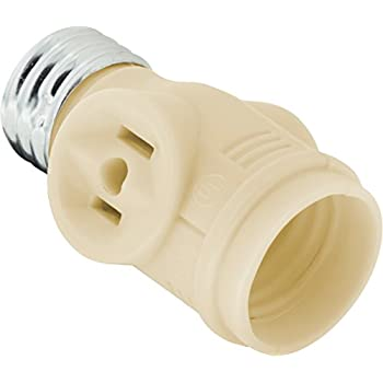 Leviton 1403 Two Outlet Socket Adapter Black Light