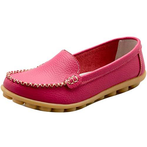 Tondi on Donna Uk colore 5 Rose Da Dimensione Shoe Flat Slip Piatti Mocassini q0xXt7F