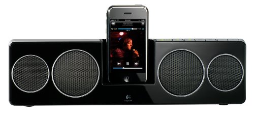 Logitech Pure Fi Mobile - Logitech Pure-Fi Anywhere 2 Compact Docking Speakers for iPod and iPhone (Black)