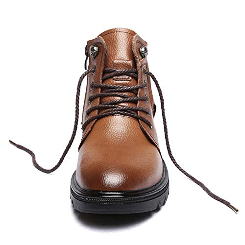 Boots Steel Toe Jump (GanQuan2018 Men's Martin Boot Lace-Up Fashion Winter Black Brown Work Boots)