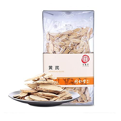 Beijing Tong Ren Tang Astragalus Root Slices Astragali Radix Huang Qi Slices Can be Matched with Chinese Angelica Codonopsis Pilosula Ophiopogon Japonicus Healthful Herbal Tea北京同仁堂黄芪 ()