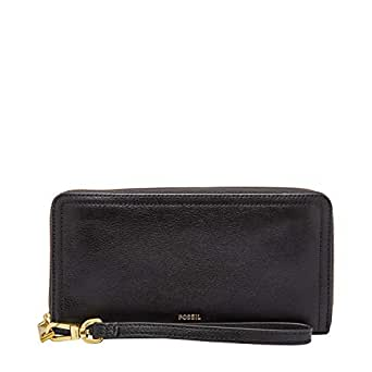 Fossil Women's Wallet, 7.75''L x 0.75''W x 4''H, Black