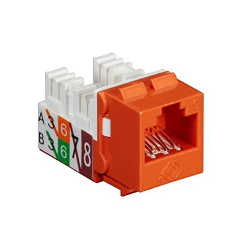 (FMT636-R3-25PAK - BLACK BOX FMT636-R3-25PAK GigaTrue2 CAT6 Jacks, Universal Wiring, Component Level, 25-Pack, Orange)