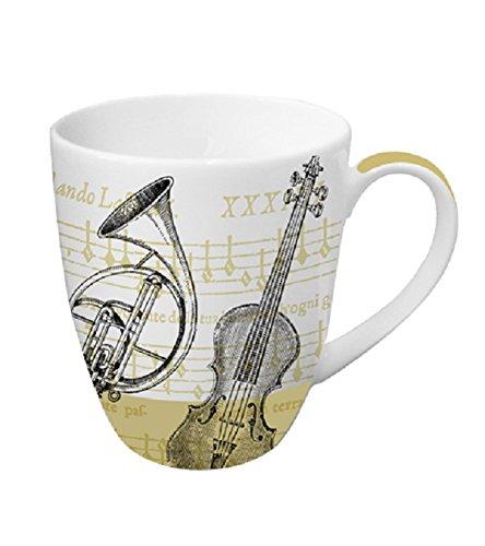 Gift Coffee Concerto (Paperproducts Design Porcelain Mug with Distinctive Concerto Design, 14 oz, Multicolor)