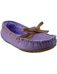 Happy Kids Girls KM-1 Warm Fur Lined Winter Moccasin Flats Shoes