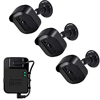 Blink Xt2 Wall Mount Bracket, 3 Pack Plastic Housing/Mount with Blink Sync Module Outlet Mount for Blink Xt2/Xt Indoor Outdoor Cameras Security System (Black)