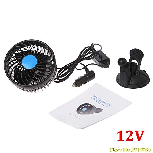 MOJITO LIVING PTE New Electric Car Fan 12V Strong Wind Low Noise Summer Adjustable Car Fan with Sucker Air Cooling Fan Accessories Shipping