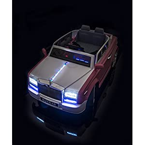 SPORTrax-Ghost-Luxury-Kids-Ride-On-Car-Battery-Powered-Remote-Control-wFREE-MP3-Player-Pink