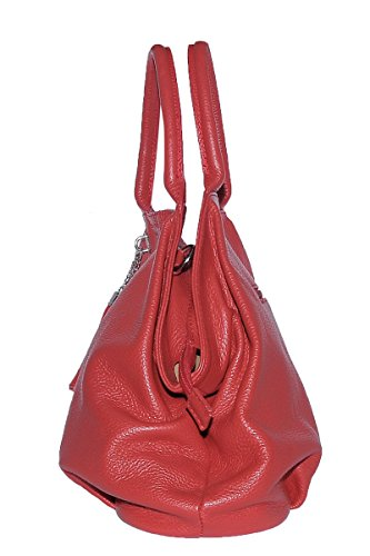 GIADA Red Leather in Genuine Made Woman'S Italy Handbag 100 BORDERLINE wSRnaPq8x