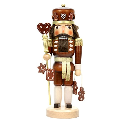 32-328 - Christian Ulbricht Nutcracker - Gingerbread King (Natural) - 15''''H x 6''''W x 5.5''''D by Alexander Taron Importer