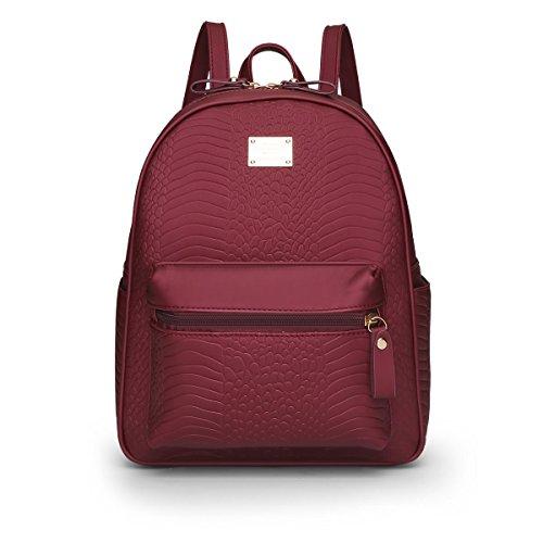 E-Girl Bolso mochila de Material Sintético para mujer One Size Rojo
