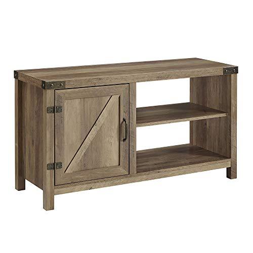 WE Furniture AZ44BD1DRO Barn Door TV Stand, 44