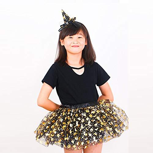 Vestito BYSTE corta Bambino Gonna danza Halloween Dancewear Gonna tutu Pettiskirt Elasticit Ragazze Bw7Br8xqg