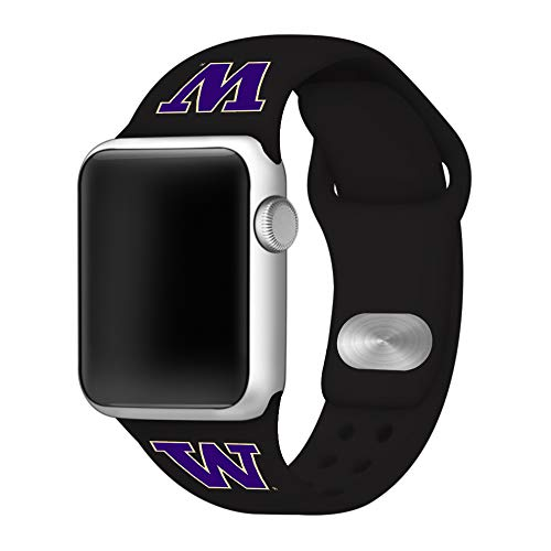 (Affinity Bands Washington Huskies Silicone Sport Band Compatible with Apple Watch - 42mm/44mm)