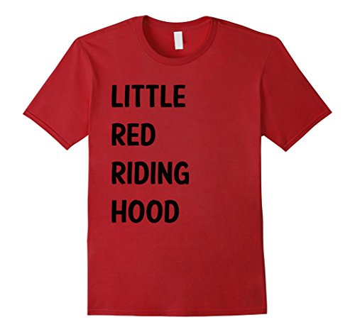 Male Little Red Riding Hood Costumes (Mens Little Red Riding Hood Halloween Costume Shirt for Couples 2XL Cranberry)