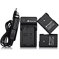 Powerextra 2 Pack Nikon EN-EL14 Replacement Battery With Charger for Nikon D3100, D3200, D5100, P7000, P7100, P7700 DSLR Cameras (Free Car Charger Available Now)