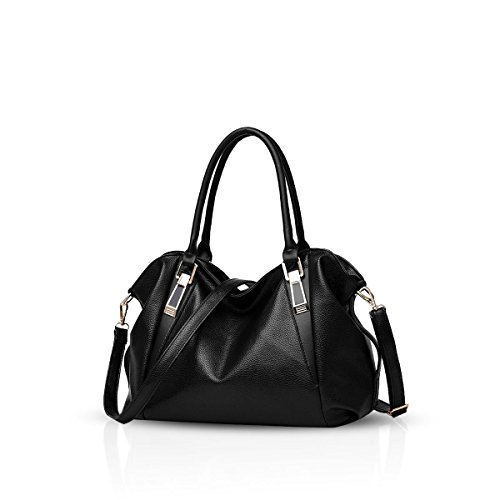 classique Nicole bandoulière Femme dames casual sac de la sac souple à Pink portable Sac main nouveau Noir Sac amp;Doris femmes Messenger Sacs mode WTq7nvrTwY