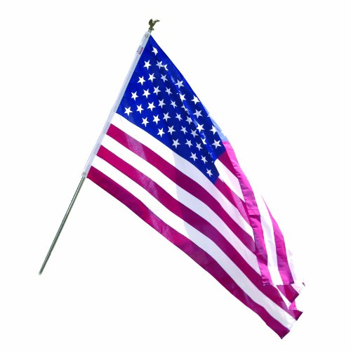 American Made Patio Furniture (Valley Forge Flag All American Series 3 x 5 Foot Polycotton US American Flag Kit with 6-Foot Steel Pole and Bracket)