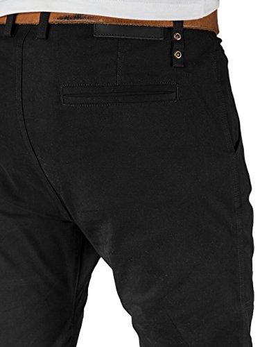 Italy Morn Mens Chinos Casual Pants Khakis Joggers Dress Slim Fit Black (L(36Wx31L), Black)