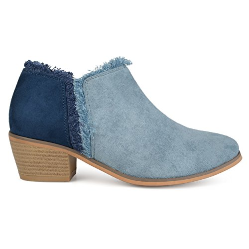 Booties Suede Womens Brinley Brinley Blue Faux Ankle Co Co Fringe Womens SYAOqwz5Y