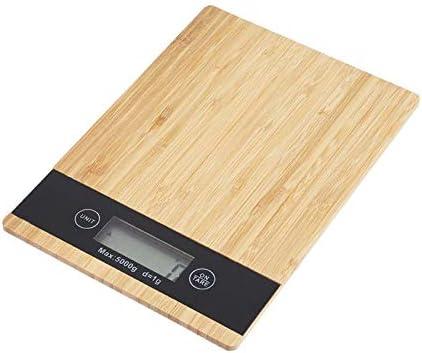 Bilancia Elettronica Alimenti Bamboo Wood Grain Scale LED Display Digitale Digitale Digitale Multi-funzione Scala da cucina Misurazione Scale di Pesatura Strumenti di misurazione