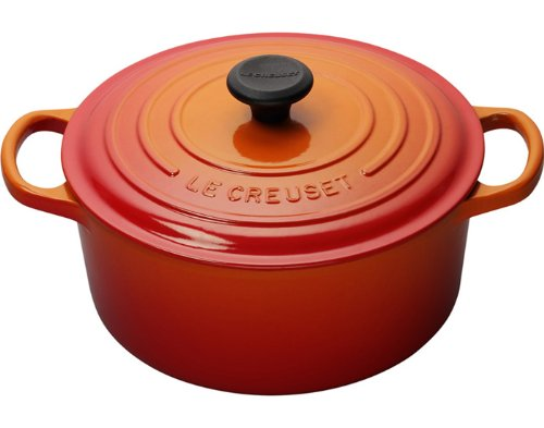 Le Creuset Signature Enameled Cast-Iron 3.5 Quart Round French (Dutch) Oven, Flame