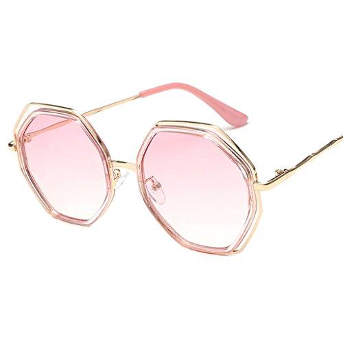 las X852 6 elegantes señoras gafas moda Gafas personalidad hombres los Gafas de redondas de Color sol de QQB 2 coreana la de sol de Gafas de xRBSqwXWf