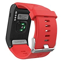 Garmin Vivoactive HR Watch Band, MoKo Soft Silicone Replacement Watch Band ONLY for Garmin Vivoactive HR Sports GPS Smart Watch with Adapter Tools - RED