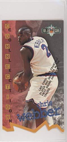 Chris Webber (Basketball Card) 1995-96 Fleer NBA Jam Session - [Base] - Die-Cut #D118 -