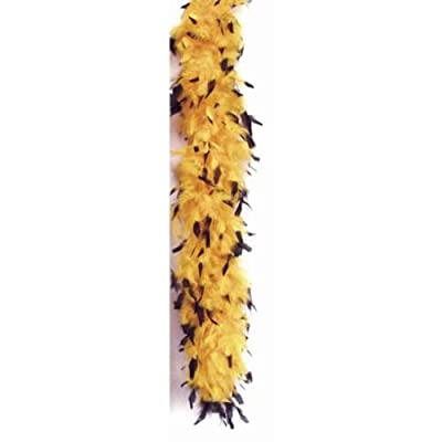 "Star Power Long Fluffy Feather Color Tips Boa, Gold Black, One Size 72"": Toys & Games"