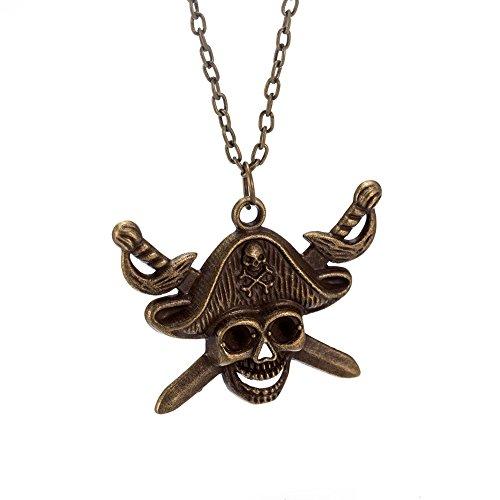 Pirate Choker (Ingooood Wind Pirate Skull Choker Necklace Men& Women Statement Pendants Zinc Alloy Body Jewellery Gift)