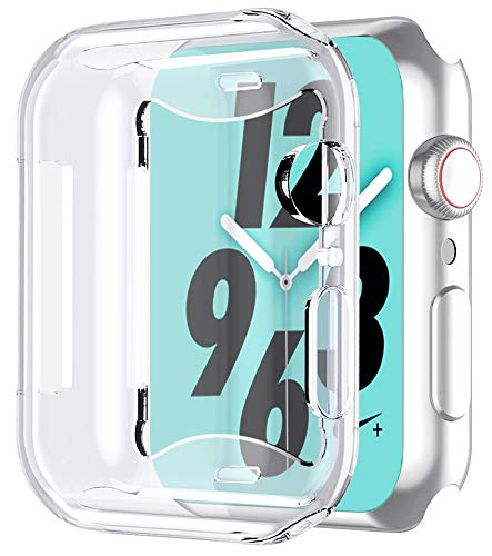 Bovon for Apple Watch Series 4 Screen Protector (44mm), iWatch 4 Case [3D Touch] [All Around Protective] [Ultra Clear] Soft TPU Cover Bumper for 2018 New Apple Watch 4