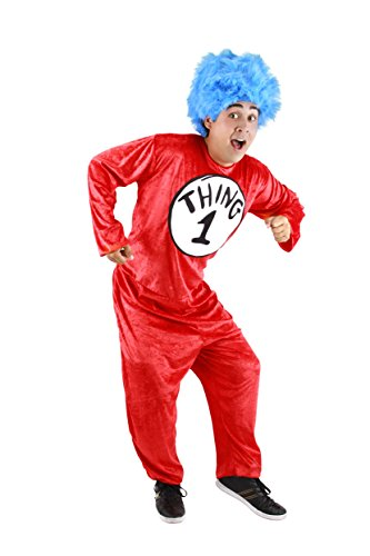 Dr. Seuss Thing 1 and Thing 2 Adult Costume (S/M) by elope (Thing 1 And 2 Costumes)