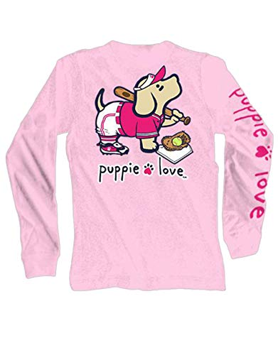 Puppie Love Softball Pup Adult Long Sleeve T-Shirt-Small by Puppie Love (Image #1)
