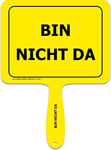 Bin No Da - divertido cartel con mango de plástico amarillo ...