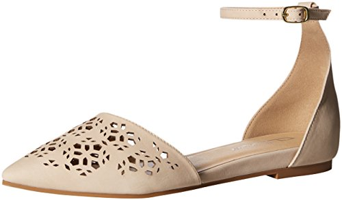 CL by Chinese Laundry Women's Hello Ballet Flat, Pale Nude Nubuck, 8 M US Chinese Laundry Ballet Flats