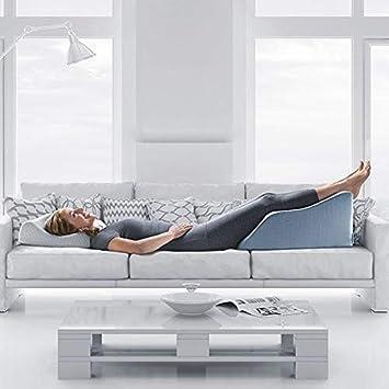 Lounge Doctor Leg Rest with Cooling Gel Memory Foam LD Heather Grey Medium MFOAM-M-LD Heather Grey