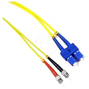 Cablematic - Cable de fibra óptica ST a SC monomodo duplex 9/125 de 15 m