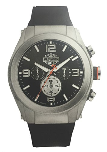 Harley-Davidson Men's Six-Hand Chronograph Watch, Two-Tone Steel Case 76B176