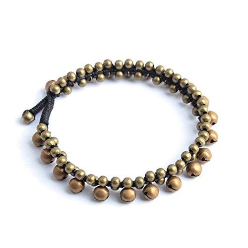 - Lavany Women Anklet Chain Jingle Bell Payal Ankle Bracelet PAIR Tribal Boho Bellydance Jewelry (Silver)