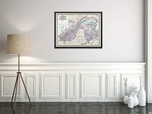 ec, Canada Map|Historic Antique Vintage Reprint|Size: 18x24|Ready to Frame ()