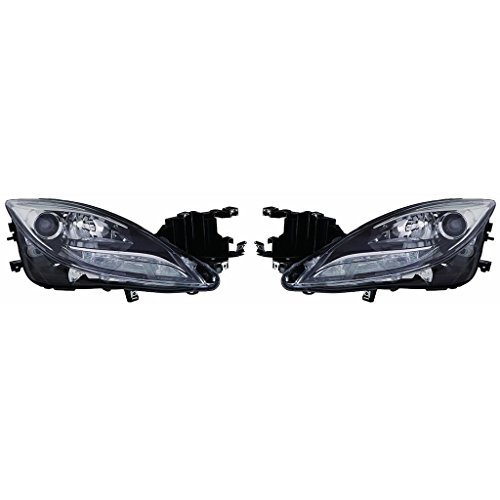 Fits Mazda 6 2011-2013 Headlight Assembly Unit Halogen Pair Driver and Passenger Side (NSF Certified) MA2518141, -