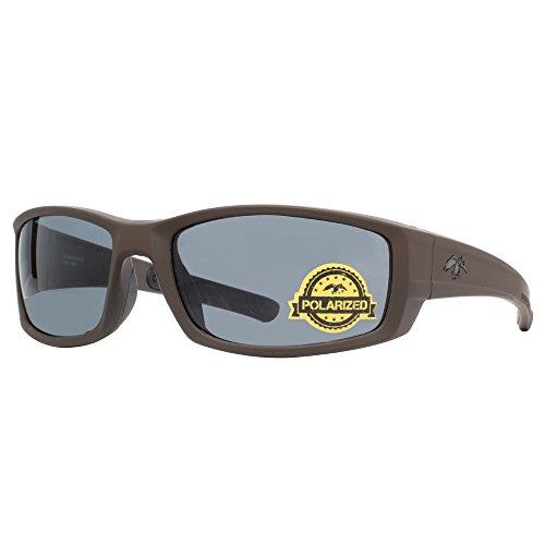 duck commander Men's D857 BRN Mirrored Polarized Sunglasses, Matte - Commander Sunglasses Duck