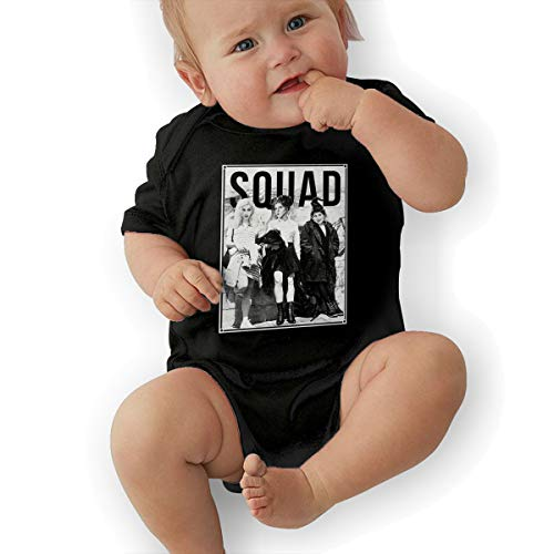 RichardMPage Baby Three Witches Hocus Pocus Squad Halloween Adorable Soft Music Band Jersey Creeping Suit 18M Black