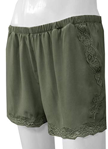Gold Hawk Classic Silk & Lace Short with Pockets