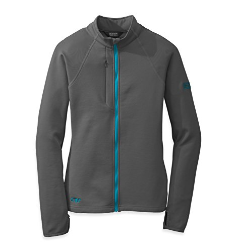 Outdoor Research Women's Radiant Hybrid Jacket, Charcoal/Rio